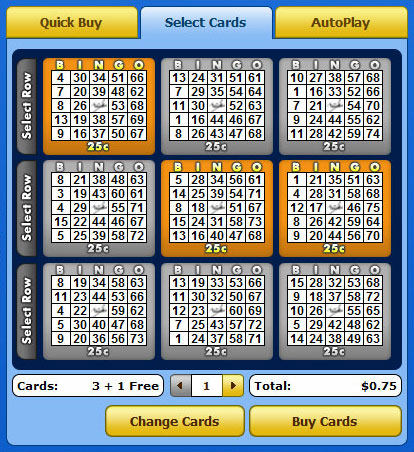 selecting jet bingo 75 ball bingo cards