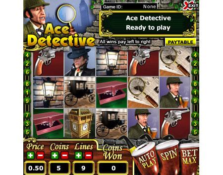 jet bingo ace detective 5 reel online slots game