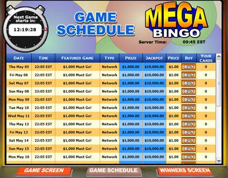 jet bingo mega bingo network online bingo game