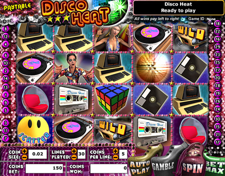 jet bingo disco heat 5 reel online slots game