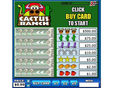 jet bingo cactus ranch online instant win game
