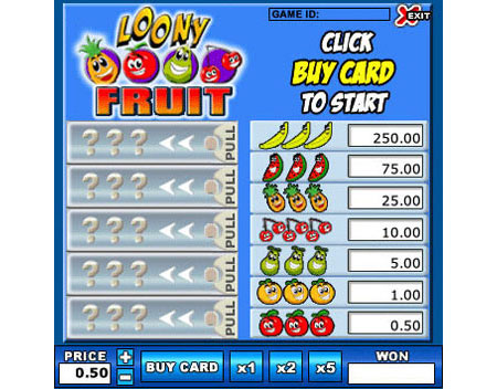 jet bingo loony fruit online instant win game