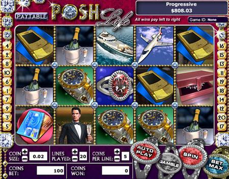 jet bingo posh life 5 reel online slots game