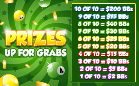 jet bingo promo pot of gold prizes